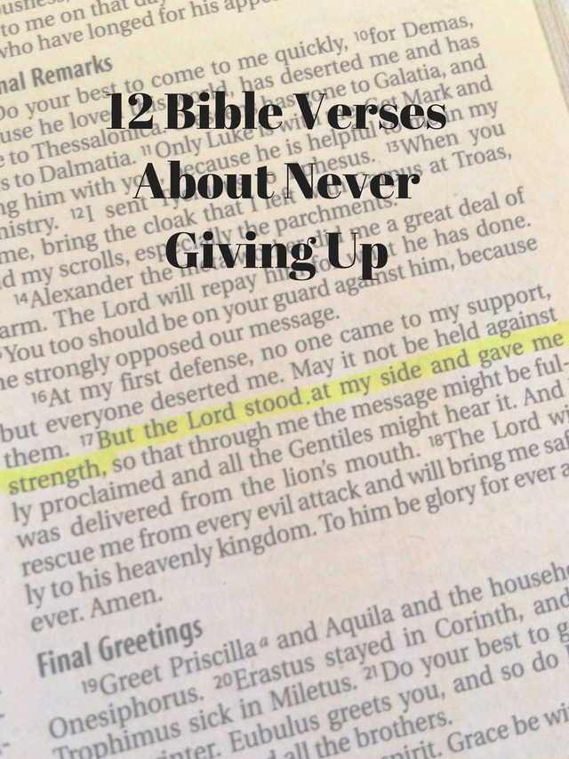 12 bible verses about never giving up